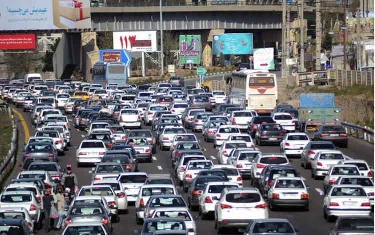ترافیک سنگین در آزادراه تهران-کرج