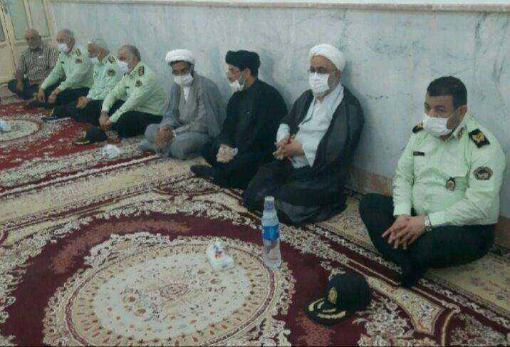 خبرنگاران دیدار فرمانده انتظامی خوزستان با خانواده شهید امنیت