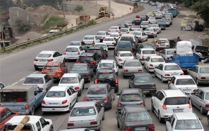 ترافیک سنگین در محورهای چالوس و فیروزکوه