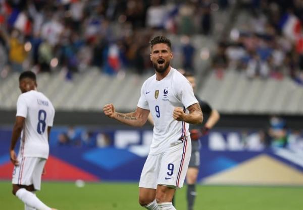 بازی های محبت آمیز ملی، پیروزی فرانسه مقابل بلغارستان با گل های ژیرو، تساوی لهستان و ایسلند